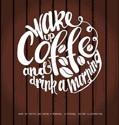 Chalkboard Poster Lettering Coffee vector