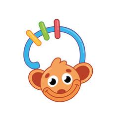 children toy rattle monkey kid development vector image