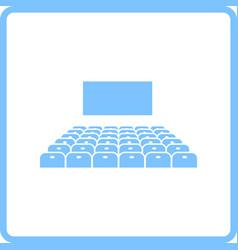 Cinema auditorium icon vector