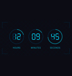 Clock showing minutes vector