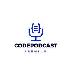 code podcast logo icon vector image