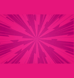 comic dynamic pink background vector image