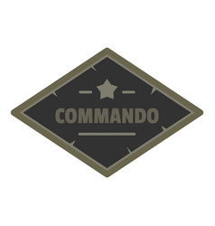 Commando icon logo flat style vector