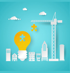 Creative idea planning with crane vector