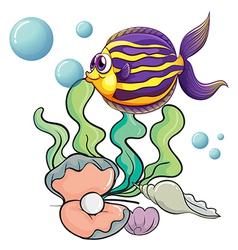 Creatures under sea vector