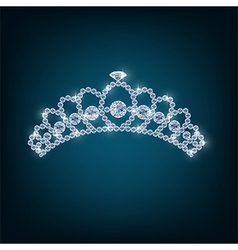 Crown with concepts from diamonds vector