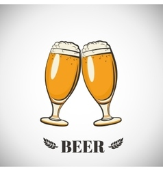 Cups of beer vector image