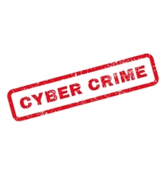 Cyber Crime Text Rubber Stamp vector