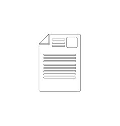 document flat icon vector image