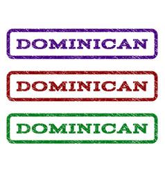 Dominican watermark stamp vector