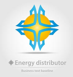 Energy distributor business icon vector image