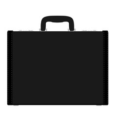 Fashion mens leather bag briefcase diplomat vector