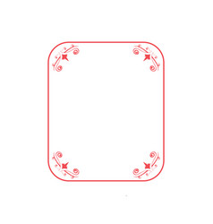 floral frame graphic design template isolated vector image