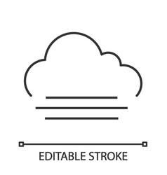 fog linear icon vector image