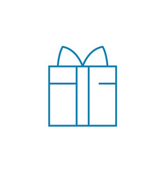 gift package linear icon concept gift package vector image