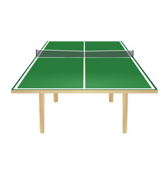 green table tennis field vector image