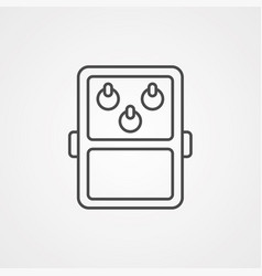 Guitar pedal icon sign symbol vector