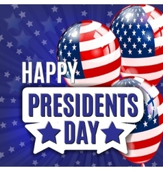 Happy Presidents Day Presidents day banner vector image