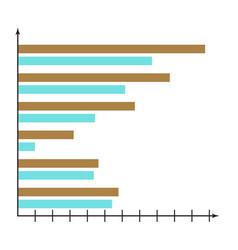 horizontal chart vector image