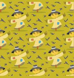 image pattern scarecrow field scare birds vector image