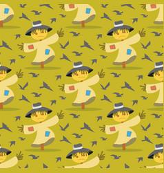 Image pattern scarecrow field scare birds vector
