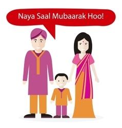 Indians People Congratulations Happy New Year vector
