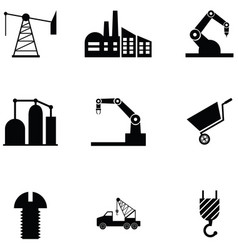 industrial icon set vector image