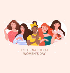 international woman day concept vector image