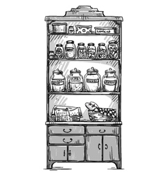 Kitchen cupboard vector