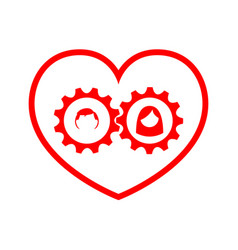 love with driving gear from the couple vector image