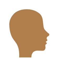 Man head icon vector