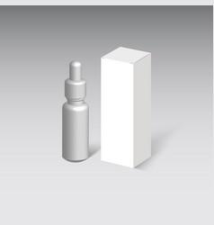 medicine cardboard box vector image