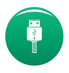 Memory flash drive icon green vector