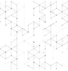 modern line art pattern with connecting lines on vector image