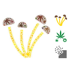 mushrooms mosaic of cannabis vector image