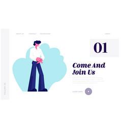 open presentation event website landing page vector image