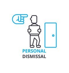 Personal dismissal concept outline icon linear vector