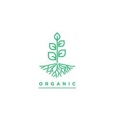 plants symbol templateorganic vector image