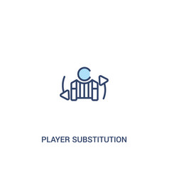 Player substitution concept 2 colored icon simple vector