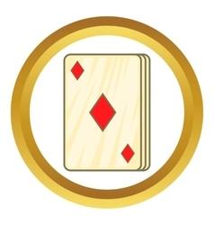 Playing card diamonds icon vector