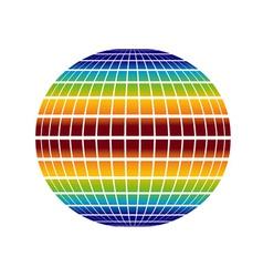 Rainbow globe vector