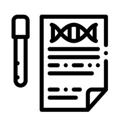 Result test list flask icon outline vector