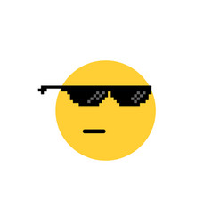 round emoji like a boss or leader vector image