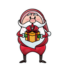santa claus cartoon character merry christmas vector image