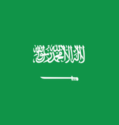 saudi arabian flag official colors and proportion vector image