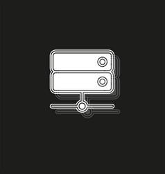 Server data racks - computer storage icon vector