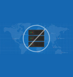 serverless computing no server required vector image