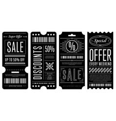 Set of elegant discount coupons vector