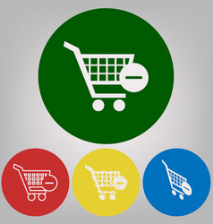 shopping cart with remove sign 4 vector image
