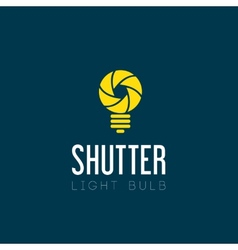 Shutter Light Bulb Abstract Symbol Icon vector image